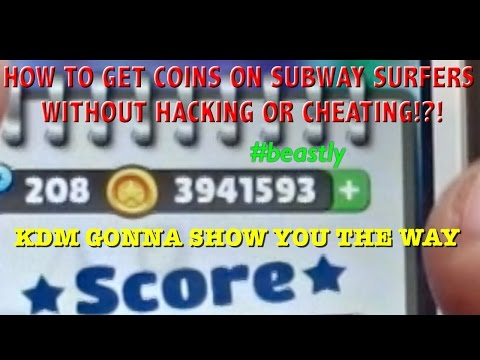Getting Coins on Subway Surfers?! No Cheats or Hacks!