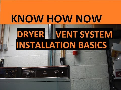 Install Upgrade to Dryer Vent Pipe System