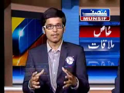 Interview at Munsif TV Studios