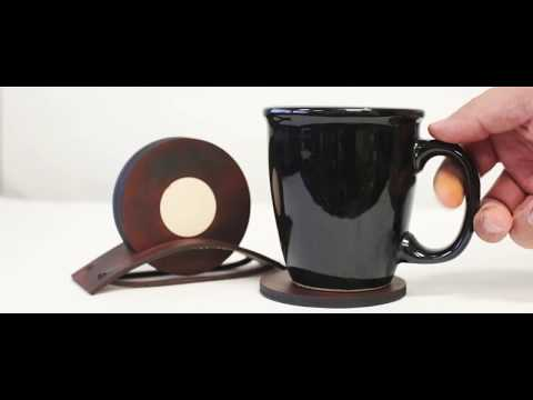 Laser Cut Leather (cow hide) Drink Coasters - Free File Download