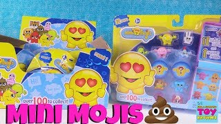 Mini Mojis Emoji Collectible Figures 12 & 2 Packs Toy Review Opening | PSToyReviews