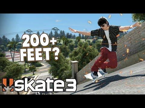 Skate 3: LONGEST POWERSLIDE CHALLENGE? (200+ FEET)