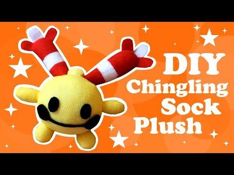 ❤ DIY Chingling Sock Plush! How To Make A Cute Pokemon Plushie! ❤