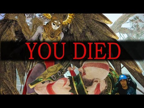IS THIS DARK SOULS?! | GOD OF WAR 4 Valkyrie Fight (NO SPARTAN RAGE, NO RESURRECTION STONE)