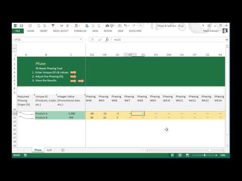 Largest Remainder Method Tool to Phase & Split Values for 78 Weeks in Excel using Formula