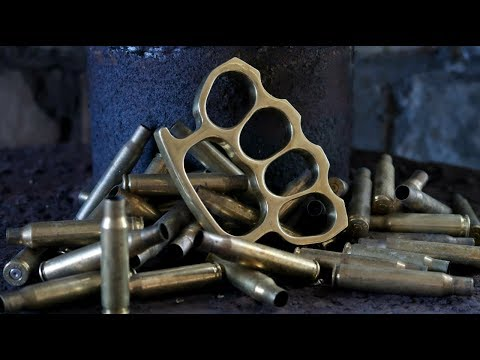 Casting Brass Knuckle Dusters from Brass Casings