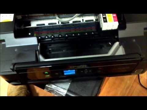 Re-install printer ink cartridges