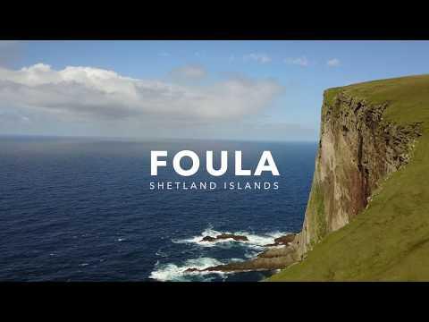 Climbing on Foula, Shetland Islands