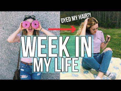 COLLEGE WEEK IN MY LIFE VLOG!! Last week of school (community college) & dying my hair