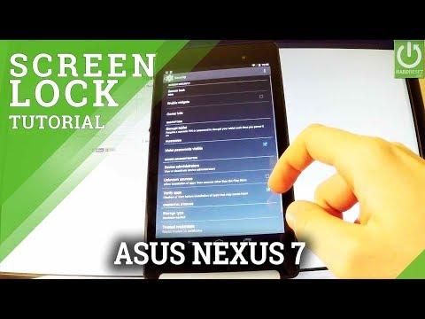 How to Set Pattern Lock on ASUS Nexus 7 - Secured Lock Screen