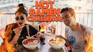 Spicy Noodle CHALLENGE with Ian Harding | MUKBANG | Shay Mitchell