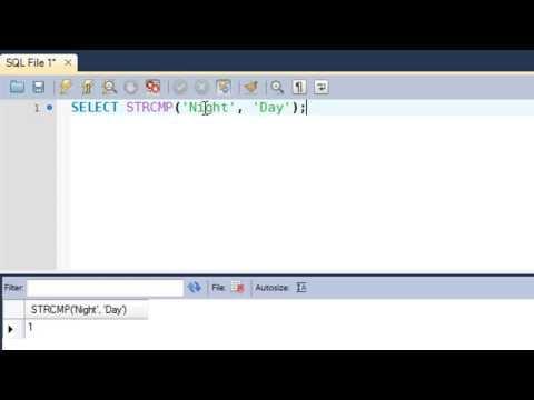 SQL Tutorial - 44: REVERSE() & STRCMP() Functions