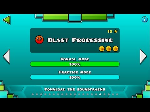 Geometry Dash | Level 17 | Blast Processing | 1 attempt | 100%