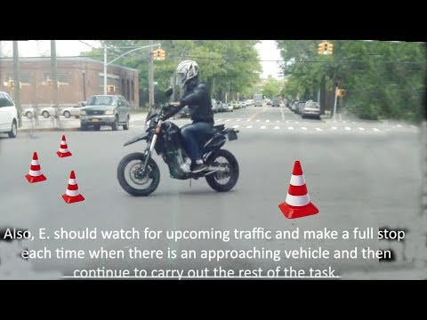 Motorcycle road test New York Red Hook area (succesfull)