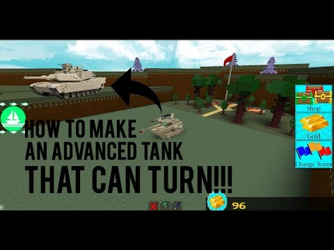 Roblox - Build a Boat for Treasure: HOW TO MAKE AN *ADVANCED TANK THAT CAN TURN*