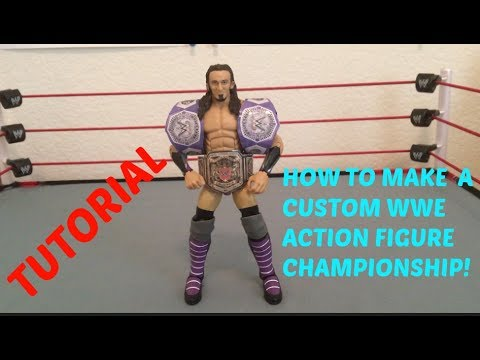 How to make a custom WWE action figure championship! (Made by Venominefigs)