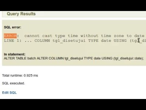 How to solve postgresql ERROR: cannot cast type time without timezone to date