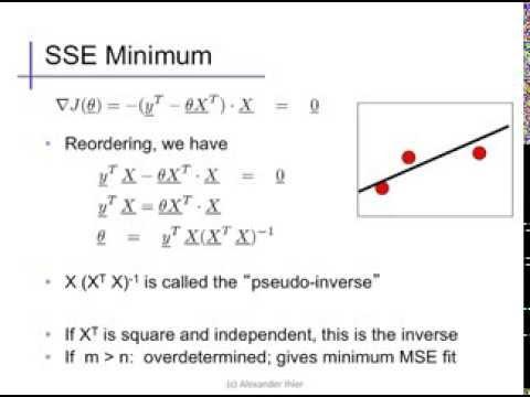 Linear regression (3): Normal equations