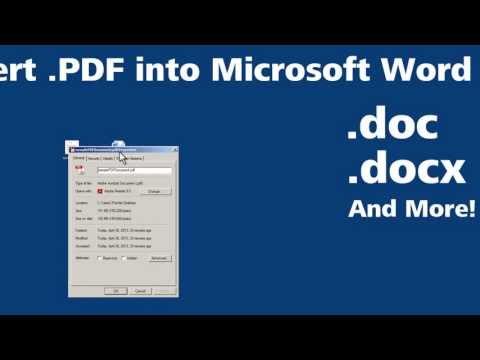 Convert PDF into Microsoft Word