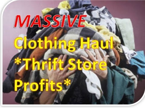 MASSIVE CLOTHING HAUL- Learn How To Sell Clothes Online!  Thrift Stores + Ebay = CASH!