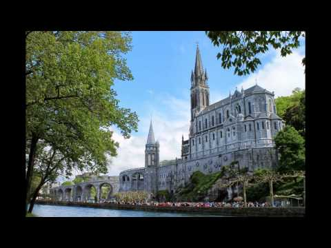 Trip to Lourdes through Spain and France Pyrenees mountains