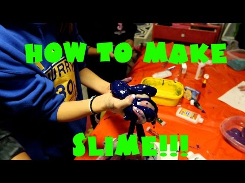 HOW TO MAKE SLIME! SILLY PUTTY!