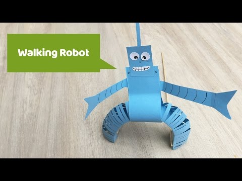 Paper Craft - Walking robot made of paper your kids will love it