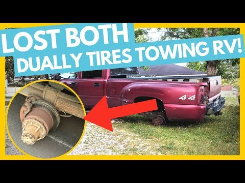 Lost Both Dually Tires While Towing Their RV....RVers Worst Nightmare...
