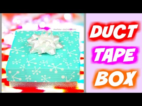 DIY DUCT TAPE GIFT BOX - Holiday Jewelry Box - How To | SoCraftastic