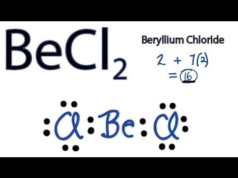 BeCl2 Lewis Structure - How to Draw the Lewis Structure for BeCl2