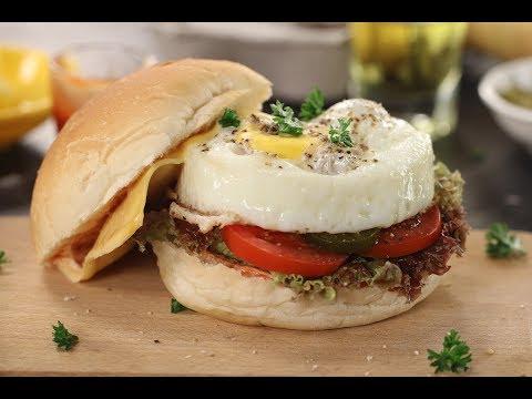 Egg Burger   Sanjeev Kapoor Khazana