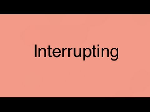 Teaching Your Child To Stop Interrupting: M4 #1