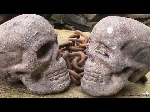 Aluminium Casting at Home - DIY Battle Skulls! Meteor Hammer