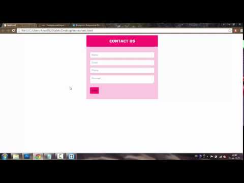 Create a best Responsive contact form using HTML5 and CSS