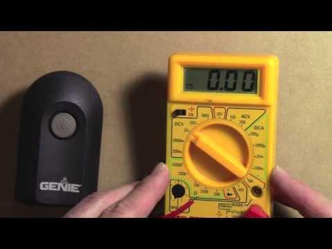 How to test & change a battery - Genie Intellicode Remote Garage Door