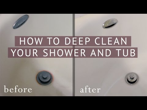 How to Deep Clean Your Shower and Bathtub