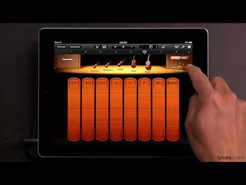 iPad tutorial: How to Play the Smart Strings in Garageband | lynda.com