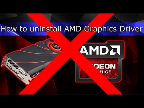 How to uninstall AMD Graphics Driver