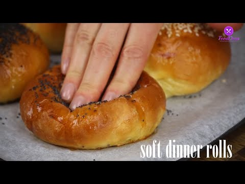 How to make Super Soft Chewy Dinner Rolls/Milk Bread/Bun Recipe