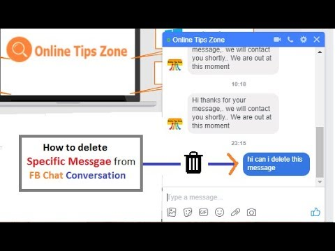 How to delete Message in Facebook Conversation