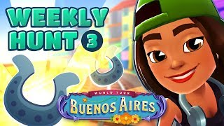 🦄 Subway Surfers Weekly Hunt - Collecting Shiny Horse Shoes in Buenos Aires (Week 3)