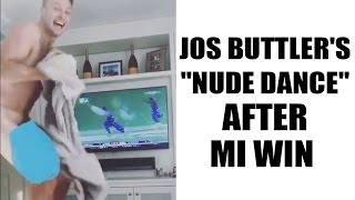 IPL 10: Jos Buttler dances without clothes to celebrate MI win over RPS in finals | Oneindia News