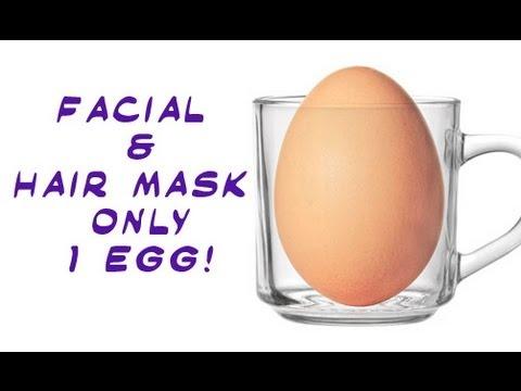 1 Egg/Week for beauty - Facial & Hair Mask - Easy tutorial