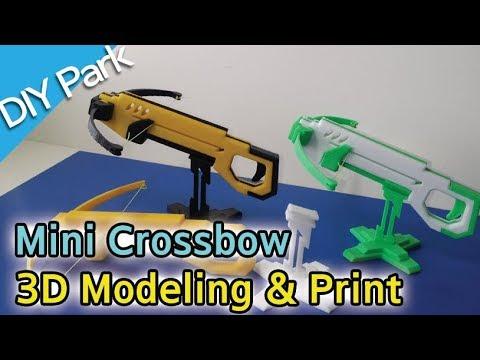 연발 미니 크로스보우. Repeating Mini Crossbow Toy.  3D Modeling & print. 123D Design [Diy Park]