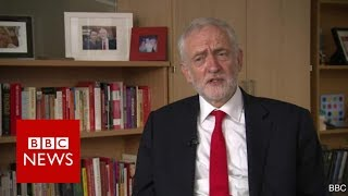 """Jeremy Corbyn: """"People voted for hope"""" - BBC News"""