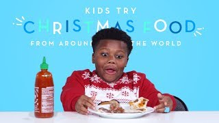 Kids Try Christmas Food From Around the World | Kids Try | HiHo Kids