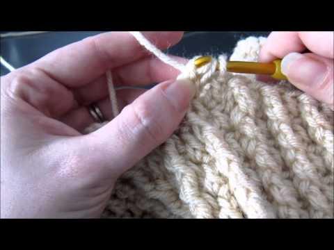 Double crochet with front post treble crochet stitch