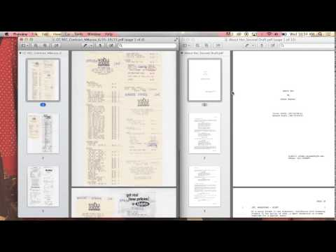 Combining PDF documents in Preview