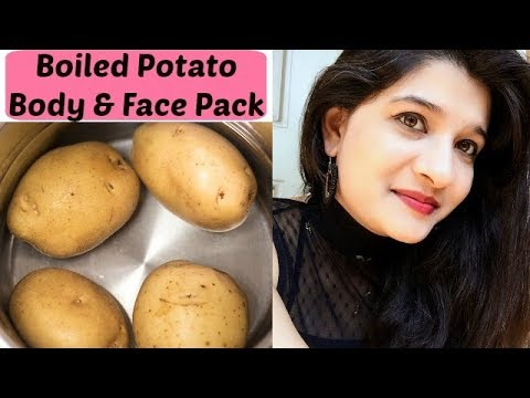 Boiled potato pack for glowing & healthy skin in Hindi | skin whitening remedy for face & body