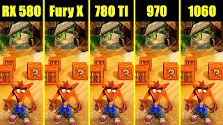 Crash Bandicoot N Sane Trilogy 1070 Vs 980 TI Vs 1060 Vs 980 Vs AMD
